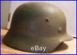 WW2 German Helmet Original WWII Vet Bring Back