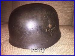 WW2 German Helmet Paratrooper Fallschirmjager M38 100% Original Italy Campaign