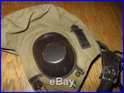 WW2 German LKpS101 Fliegerkopfhaube Summer Flight Helmet VERY NICE