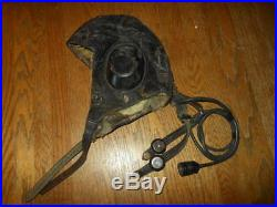 WW2 German LKpW101 Fliegerkopfhaube Winter FUR Flight Helmet #2 VERY RARE