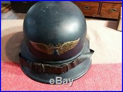WW2 German Luftschutz M38 Gladiator Helmet, Original, Complete, Size 59cm