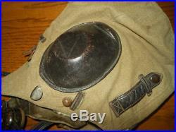 WW2 German Luftwaffe LKp S101 Fliegerkopfhaube Summer Flight Helmet -NICE