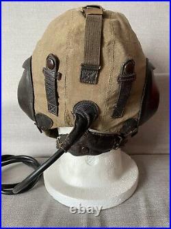WW2 German Luftwaffe LKpS101 Summer Flying Helmet Size 54 Super Condition