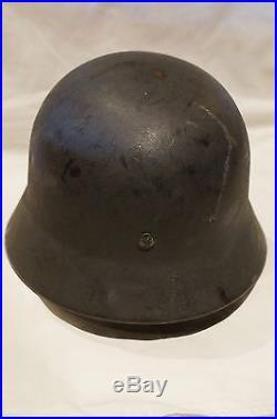 WW2 German Luftwaffe M40 Quist Steel Helmet Size 60/57 Liner & Chinstrap 1941