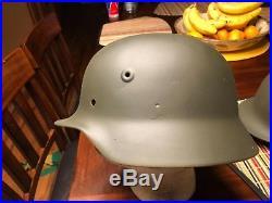 WW2 German M-40 (German / Finnish Helmet shells X 3 size 64)
