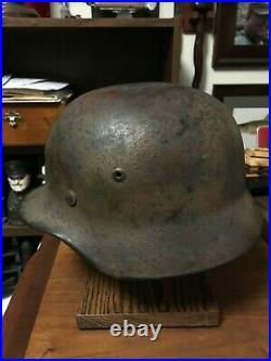 WW2 German M35 Camouflage Helmet