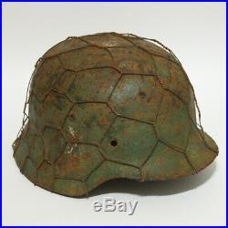 WW2 German M35 DD Heer helmet Original
