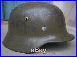WW2 German M35 Helmet Tropical Afrika paint 66/58cm DAK Elmetto tedesco