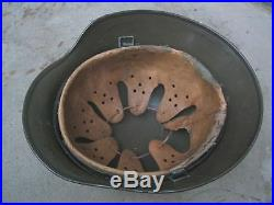WW2 German M35 Helmet Tropical Afrika paint 66/58cm DAK Elmetto tedesco 2gm