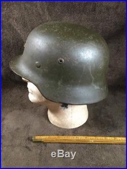 WW2 German M35 Helmet With Original Liner & Strap