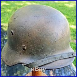 WW2 German M35 Normandy camouflage helmet ORIGINAL