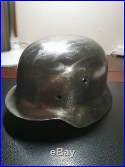 WW2 German M40 Helmet Shell Lot 1090 ET66 Ready for restoration