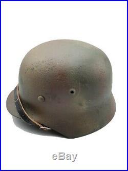 WW2 German M40 Normandy Camo Steel Helmet High Quality Reproduction Elite