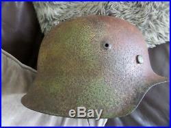WW2 German M42 Camo Helmet Normandy found