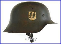 WW2 German Model 1942 Waffen SS Steel Helmet (Single Decal Stahlhelm) ckl Code