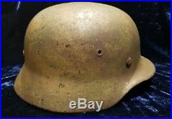 WW2 German Normandy Cam German M40 Helmet 100% Genuine