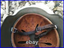 WW2 German Original Helmet Stahlhelm. Rare big size 68 + Super Bonus WOW