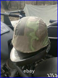 WW2 German Original restored Elite Helmet Stahlhelm. Rare big size 68
