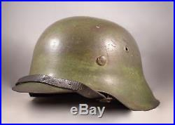 WW2 German SD Heer M42 Helmet Original Camouflage Untouched