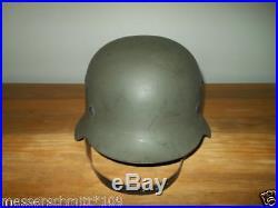 WW2 German Wehrmacht Heer M42 NAMED Combat Helmet 100% ORIGINAL NICE