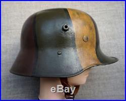 WW2 German helmet M17 slingshot combat camouflage 58 head size