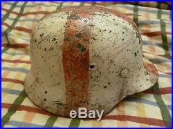 WW2 German helmet M35 medic. The battle for Stalingrad