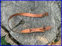 WW2 German helmet leather chinstrap