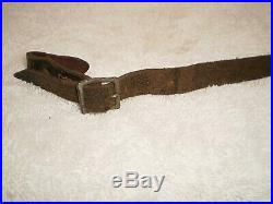 WW2 German helmet leather chinstrap, steel, 1941, original