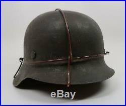 WW2 German steel M42 Wehrmacht helmet WW1 Heer Luftwaffe US Army combat souvenir