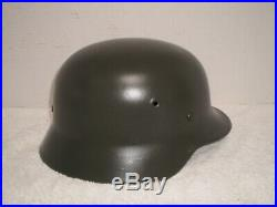 WW2 German steel helmet, M40, ET66, liner pins, named