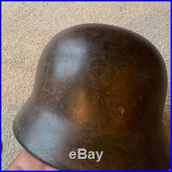 WW2 M40 German Helmet Relic found about 15 years ago Lots of paint