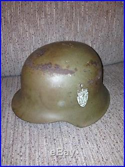 WW2 M40 German Helmet With Norway Coat Of Arms