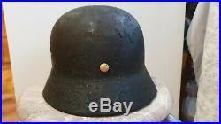 WW2 Orginal German M35 Helmet two decal