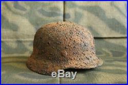 WW2 Original German Combat Helmet M40! NARVA Battlefield RELIC
