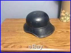WW2 Original German Gladiator helmet liner +chinstrap