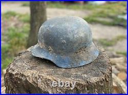 WW2 Original German Helmet M40, From Battle Of Kurland