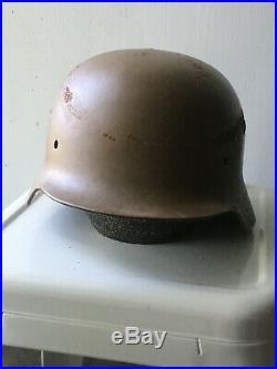 WW2 Original German Helmet M40, Size 64, nS64, E132, tan, original paint