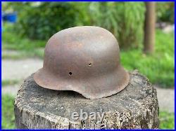 WW2 Original German Helmet M42, From Battle Of Kurland