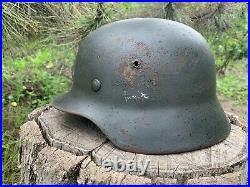 WW2 Original German helmet M35 62