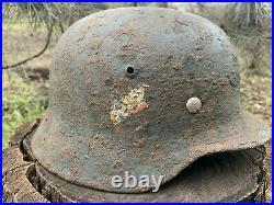 WW2 Original German helmet M35 64