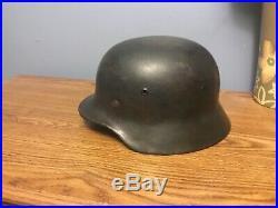 WW2 Original German helmet M35 EF64 WWll