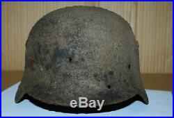 WW2 Original german helmet m35 M 35. Battlefield Relic size 62