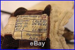 WW2 RARE German LKpN101 Netzkopfhaube Pilot Helmet Ln. 26670 Me109 Fw190 Me110