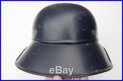 WW2 Really Nicely Decal-ed German Luftschultz Helmet