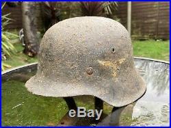 WW2 Relic German M42 Normandy Helmet With Liner
