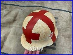 WW2 WWII German Helmet M-40 Size 64 MEDIC