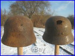 WW2 WWII German Helmet M35 Battlefield Relic
