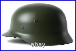 WW2 WWII German Soldier Elite Army M35 Green Steel Helmet Collection withChinstrap