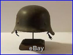 WW2, World War II, GERMAN HELMET M42 SIZE ET66 STAHLHELM Original