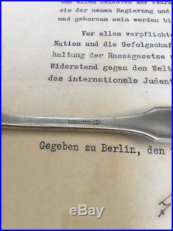 WW2 german Adolf Hitler Reichskanzlei Spoon Berlin Berghof Obersalzberg Helmet